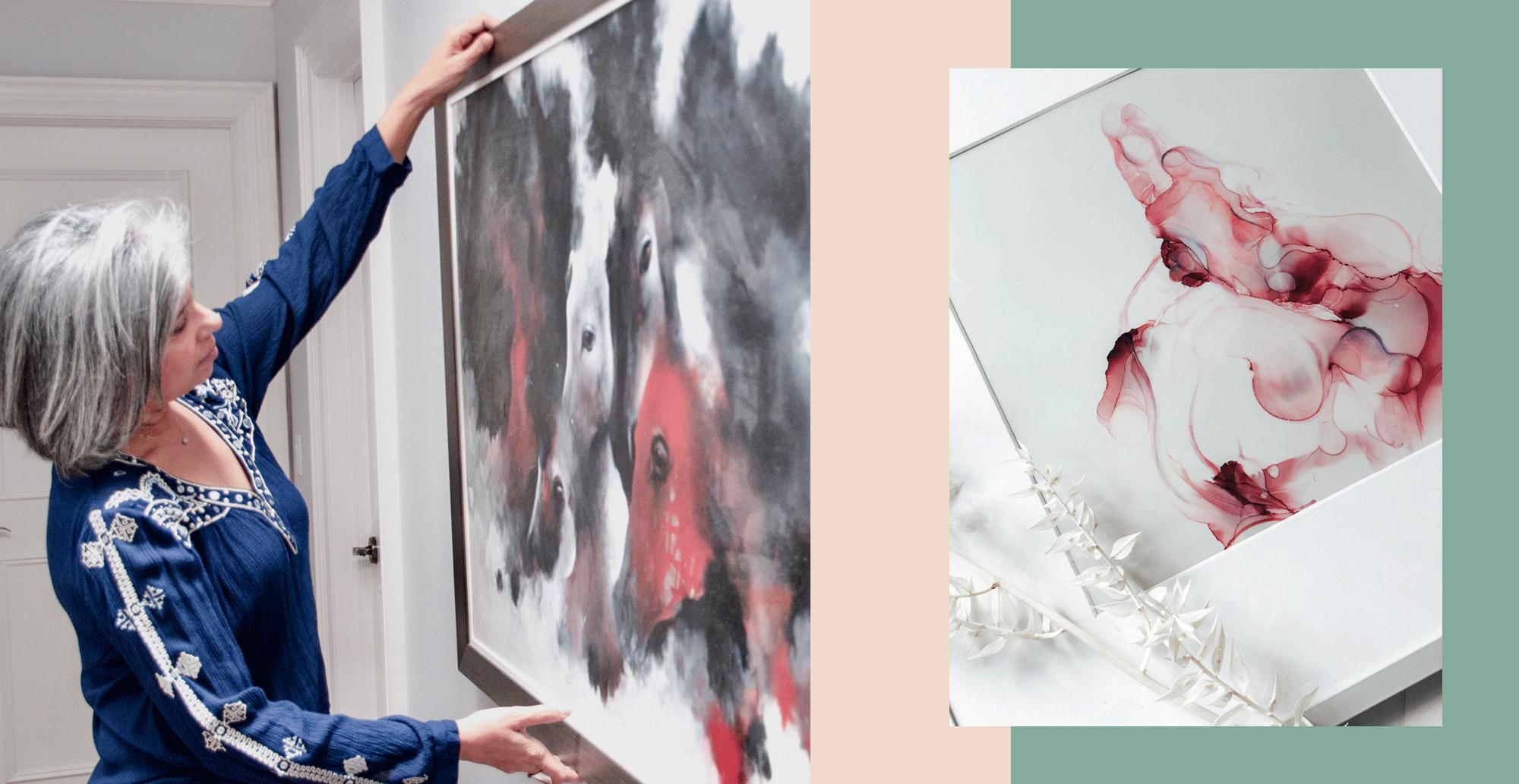 Mazarine Memon - Buying art for Zoom!